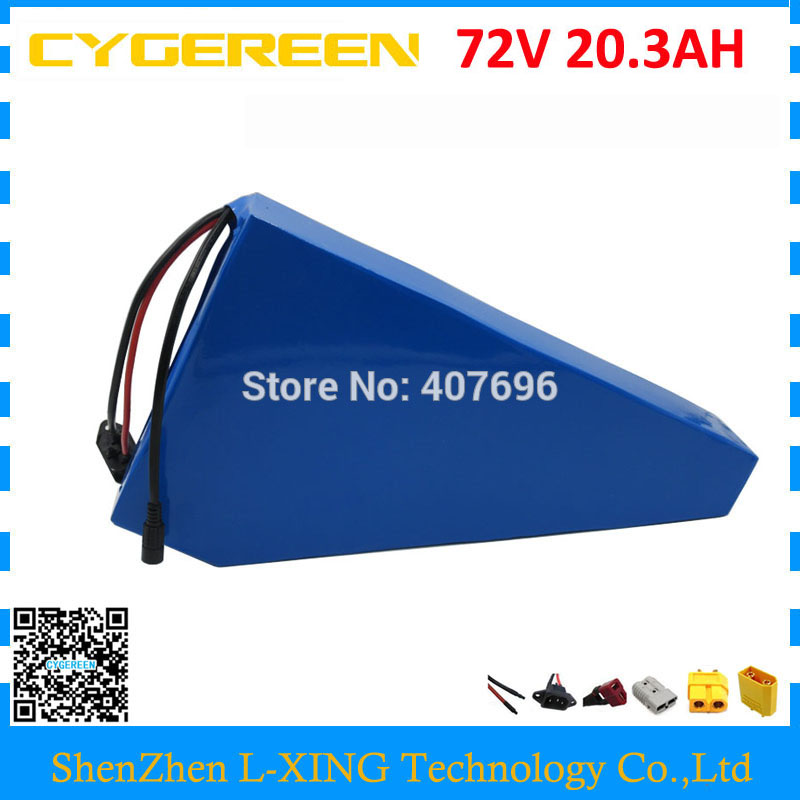 Free customs tax 2500W 72V 20AH lithium ion battery 72V 20.3AH triangle battery with free bag use Panasonic 2900mah cell 40A BMS cute lovely color pencil drawing tutorial art book