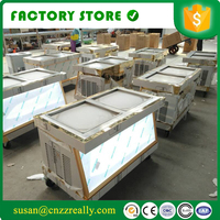 double square pan fried ice cream machine with double compressor R410A refrigerant fry ice cream roller for sale