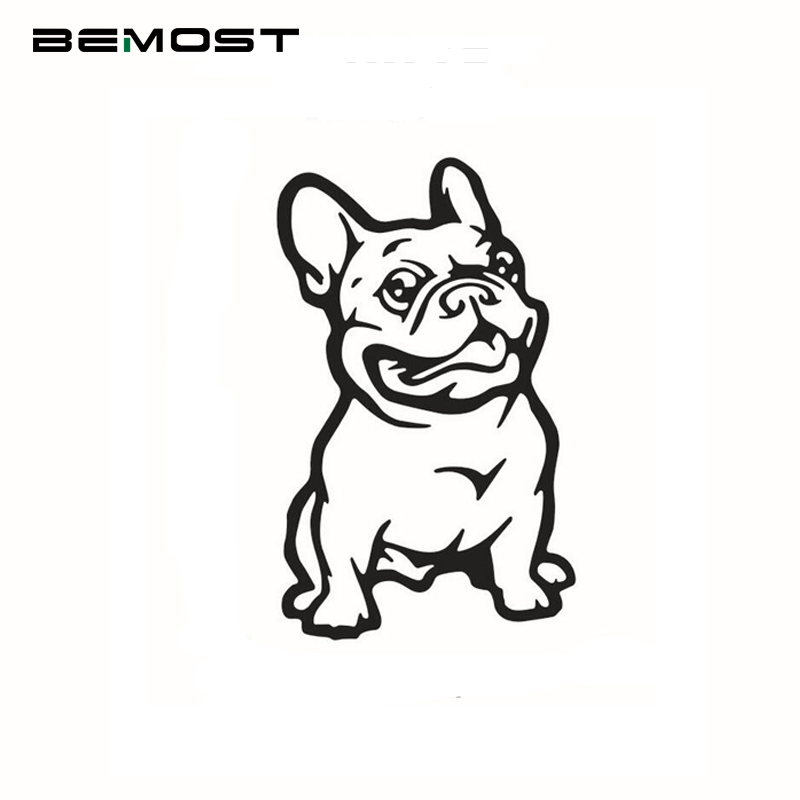 BEMOST Free Shipping Cartoon Pet Cars Decal French Bulldog Dog Car Sticker Waterproof Auto Decals Car Styling 14.5*9cm