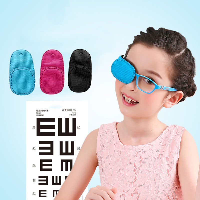 18PCS Children Occlusion Medical Lazy Eye Patch Eyeshade for Amblyopia Kids Training Cover Eye mask Monocular vision correction 20 pcs lot eye patch band aids breathable medical eye pad adhesive bandages occlusion therapy for amblyopia kids children