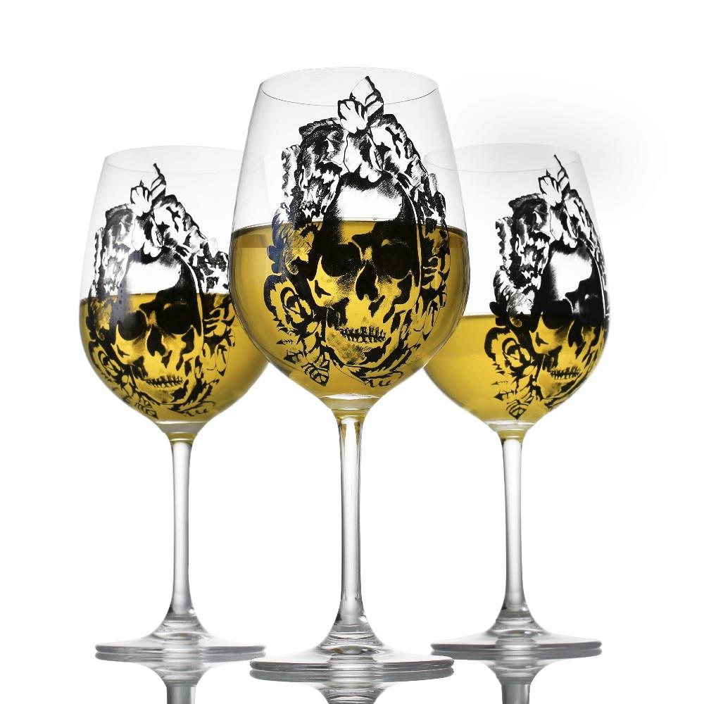 Aukštos kokybės krištolo vyno taurė su deimantų taurele - Virtuvė, valgomasis ir baras - Nuotrauka 5