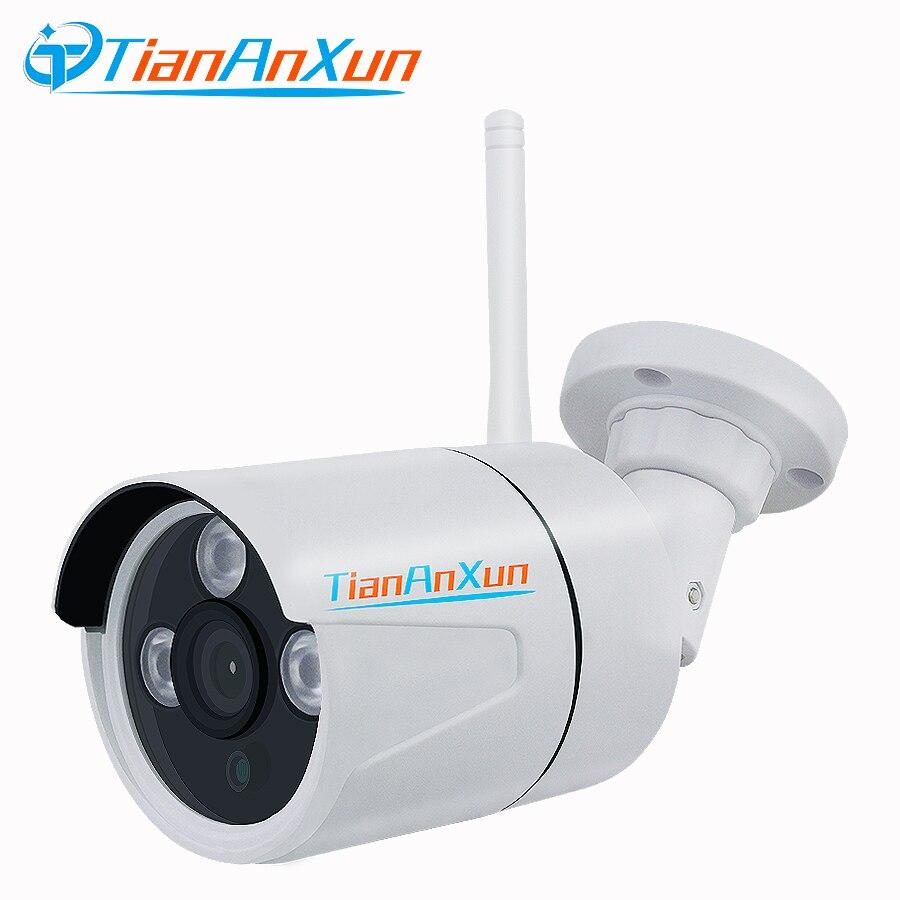TIANANXUN Cámara cámara IP Wifi Registro de Audio inalámbrico P2P de vigilancia HD al aire libre cámara de seguridad de CCTV de visión nocturna de Yoosee ranura para tarjeta SD