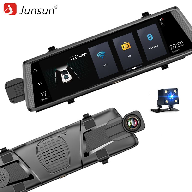 Junsun A900 font b Car b font DVR Camera 3G Android 5 0 Video Recorder Dual