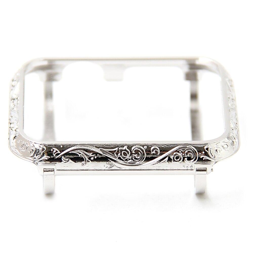 Dorpship Top qualité 38mm lunette travail manuel fleur acier argent boîtier lunette Compatible Apple montre série 42mm pour Apple montre boîtier