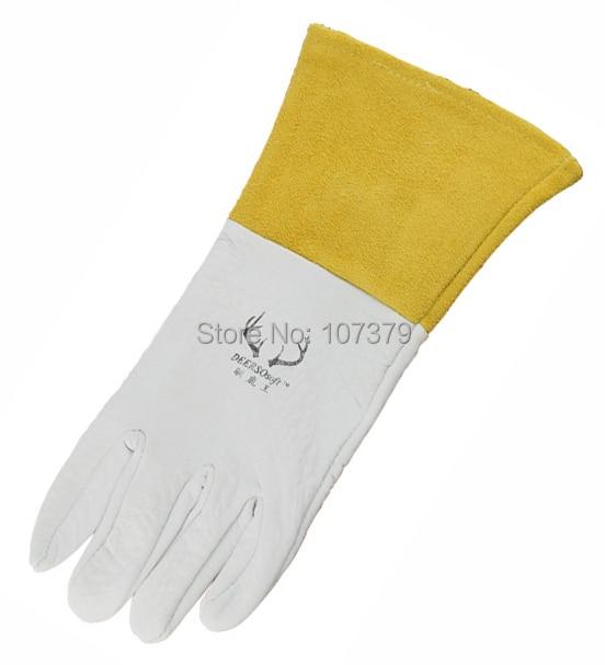 Lederarbeitshandschuh Lederschweißschutzhandschuh Maserung - Schutz und Sicherheit - Foto 4