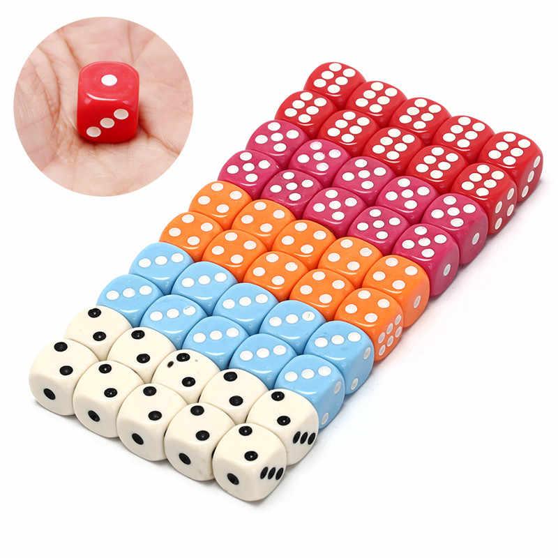 12 стилей азартная игра кости белый синий зеленый красный розовый шестигранники игра в кости покер, фишки, кости настольная игра игрушка, Прямая поставка