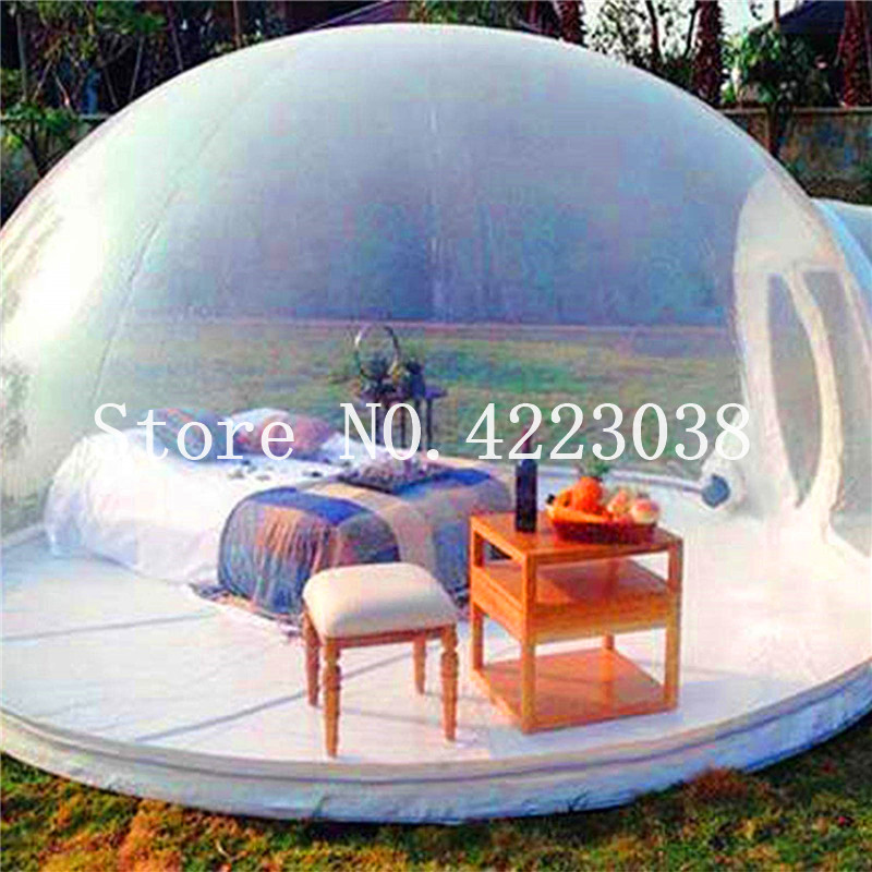 Stylish Conservatory, Play Area for Children, Greenhouse or Gazebo,Outdoor Single Tunnel Inflatable Bubble Tent,Family Camping