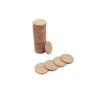 Image 5 - Paquete de recorte de madera Natural para decoración del hogar, Círculo de madera no acabado de 38mm y 100 pulgadas, redondo rústico, suministros para manualidades DIY, 1,5 Uds.