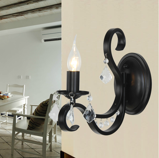 Candle Wall Sconces Bedroom : Popular Black Metal Candle Sconces-Buy Cheap Black Metal Candle Sconces lots from China Black ...