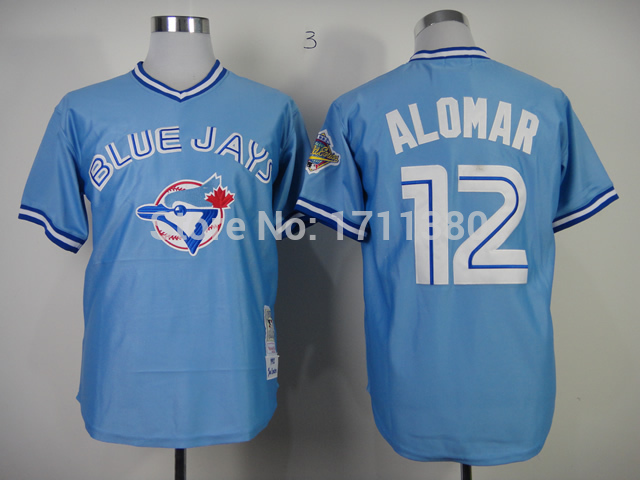 c160e8dd094 Toronto Blue Jays throwback jersey 12 Roberto Alomar jersey Retro Stitched  cheap authentic sport baseball jerseys custom M 3XL-in Baseball Jerseys  from ...