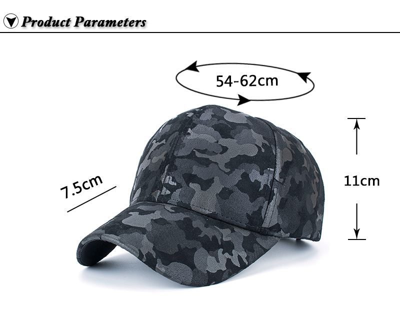 Faux Leather Camo Baseball Cap - Product Parameters
