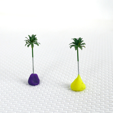 купить 1/1000 scale 2.8cm  scale palm trees with copper leaves Cocos nucifera  model palm trees for scenery train layout constructions по цене 2136.3 рублей