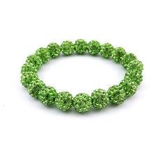 Оптовая продажа 5 шт светло зеленые браслеты для дискотек эластичные