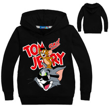 2019 Spring Clothing Tom And Jerry Shirts For Girls Kids Boys Sweatshirt Long Sleeve Tees Clothes Hoodies