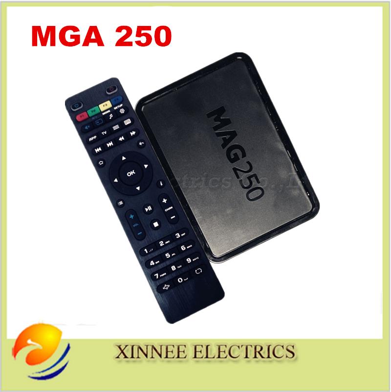 Prix pour 5 pcs/lote système Linux MAG250 IPTV / OTT set - top Box MAG 250 stabilité, Europe vente chaude MAG250 IPTV récepteur Linux TV Box