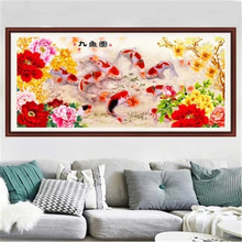 DiamondEmbroidery,China,landscape,scenery,Fish, 5D Diamond Painting, Cross Stitch, Flower Mosaic, Decoration