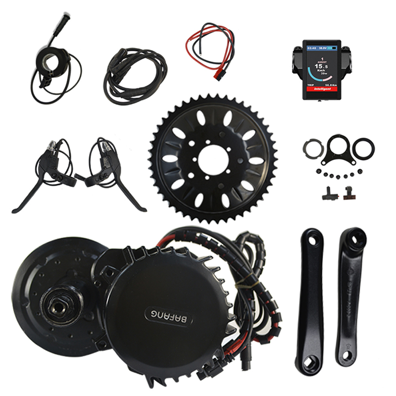 8fun 48V 1000W 100mm BBSHD BBS03 Electric Bike Kit bafang Mid Drive Motor Kits for Electric Bicycle or Fat Ebike free shipping electric bicycle 48v 1000w 8fun bafang bbs03 bbshd mid drive motor kit 68mm 100mm 120mm with c965 lcd display