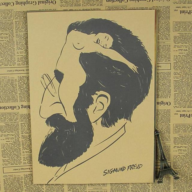 AQ 156 about Sigmund Freud vintage Retro poster Kraft paper wall art ...