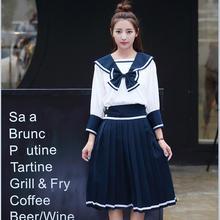 цена на Japan Anime Girls School Student Uniform Sailor suit High school student uniform COSPLAY Sets short-sleeve JK uniform costume