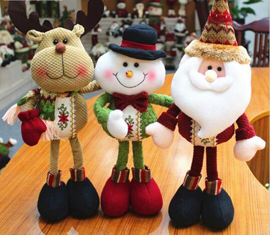 1 Piece Lovely Santa Claus Snowman Reindeer Christmas Decoration For Home Indoor Ornament Enfeites De Natal