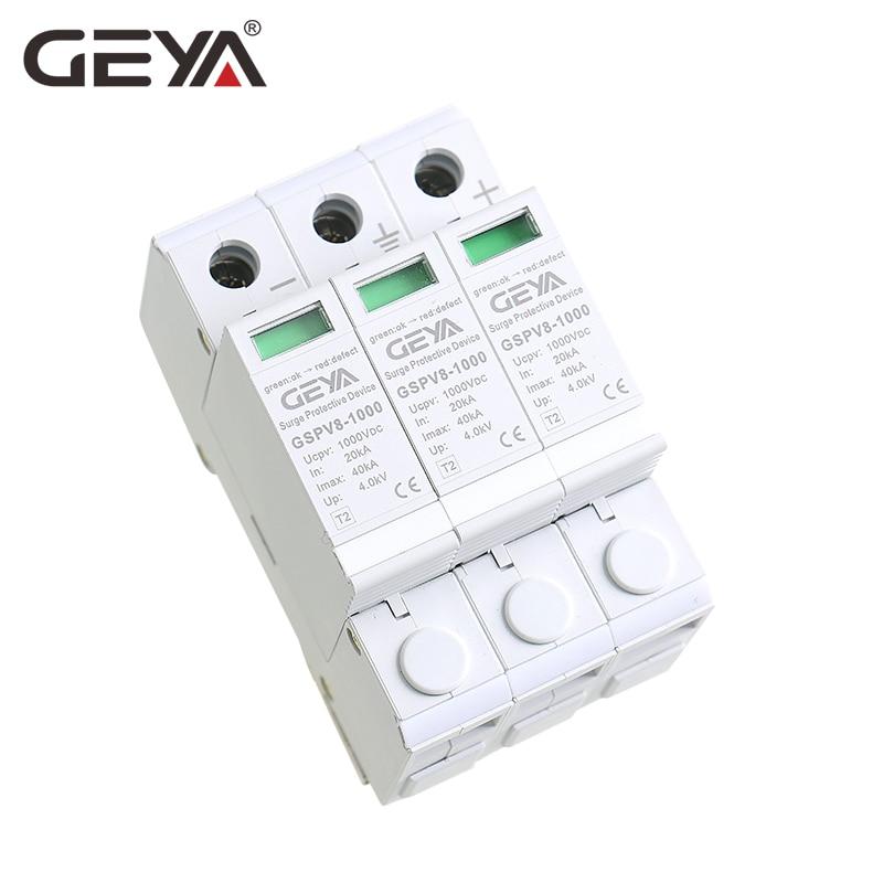 Free Shipping GEYA PV SPD 2P 3P 600V 1000V DC Surge Protector SPD DC 500VFree Shipping GEYA PV SPD 2P 3P 600V 1000V DC Surge Protector SPD DC 500V