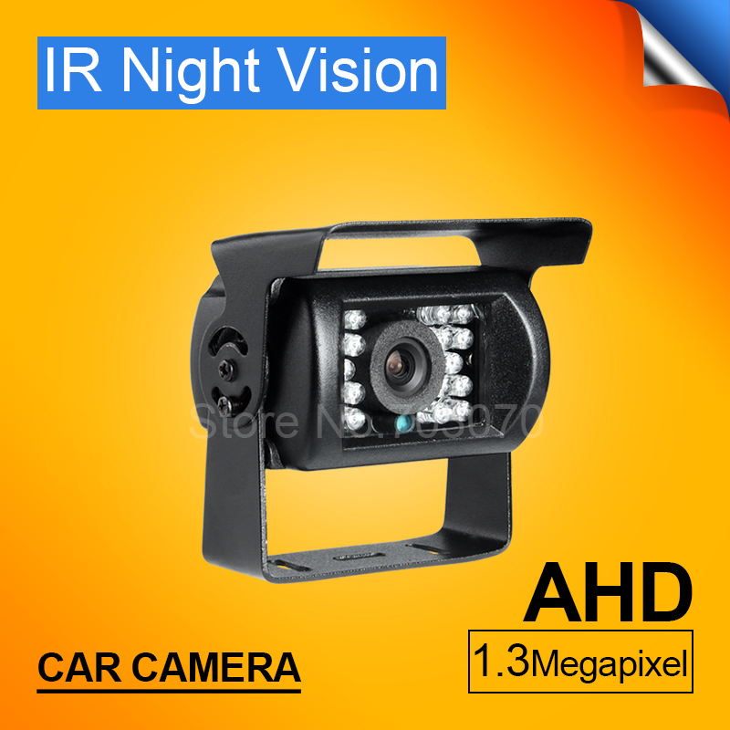 Free Shipping 4 Pin Metal IR Night Vision Waterproof Car Rear View Reverse Backup HD 1.3MP AHD Camera for Bus Truck Van все цены
