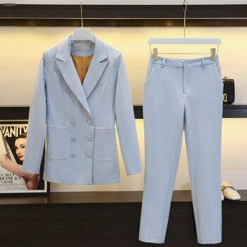 Womens suits set 2 pieces suit women  autumn temperament business ladies office uniform OL jacket + pants