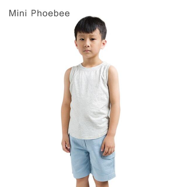 Известные Бренды phoebee дети Мальчики жилет мир танков 2015 новый Желтый Зеленый Серый Танки Лифчики Хлопок бретели лето стиль