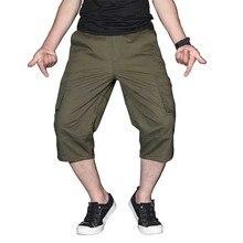 Мужские летние Карго короткие штаны 3/4 длина Прямые Свободные мешковатые короткие бордшорты мужская одежда хип-хоп короткие размера плюс S-5XL