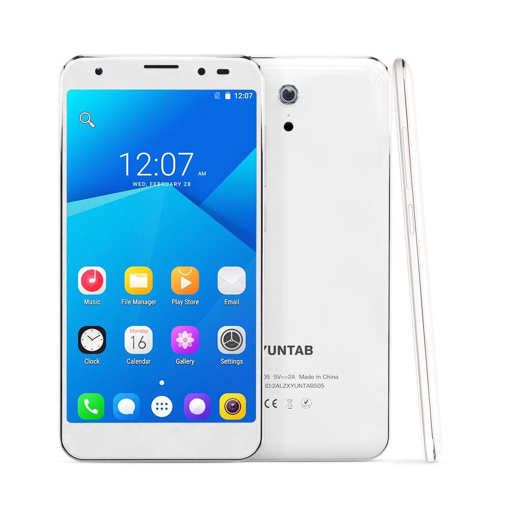 YUNTAB 5 дюймов 4G разблокирован смартфон S505 Android6.0 таблетки Quad core 2 Гб + 32 GB поддержка слоты для двух sim карт двойной Камера 3000 мАч
