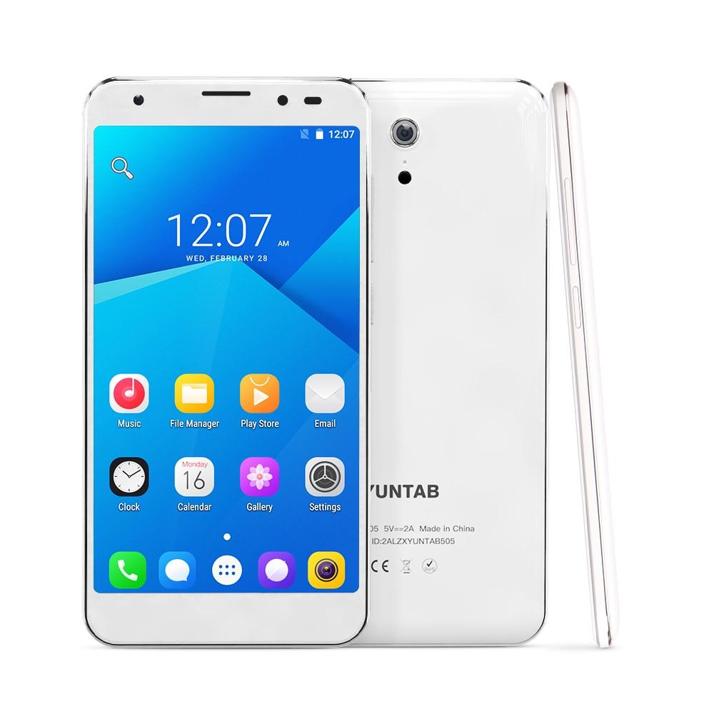 YUNTAB 5inch 4G Unlocked Smartphone S505 Android6.0 tablet Quad-core 2GB+32GB support Dual SIM Slots Dual Camera 3000mAh battery цена
