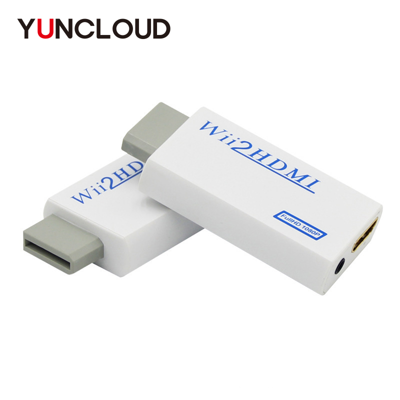 YUNCLOUD Wii to HDMI Upscale HD 1080P Adapter Cable 3.5mm Audio Wii2HDMI Converter Wii 2 HDMI Switcher for HDTVYUNCLOUD Wii to HDMI Upscale HD 1080P Adapter Cable 3.5mm Audio Wii2HDMI Converter Wii 2 HDMI Switcher for HDTV