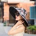 Sombreros para las mujeres Sombrero de Verano A Lo Largo de Protector Solar Set Go en Un Viaje de Arena de Playa Sombrero Sombrilla Rayos Ultravioleta Defensa sol