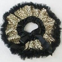 Черная юбка с принтом леопардовая детская юбка-пачка для фотографий новорожденных одежда