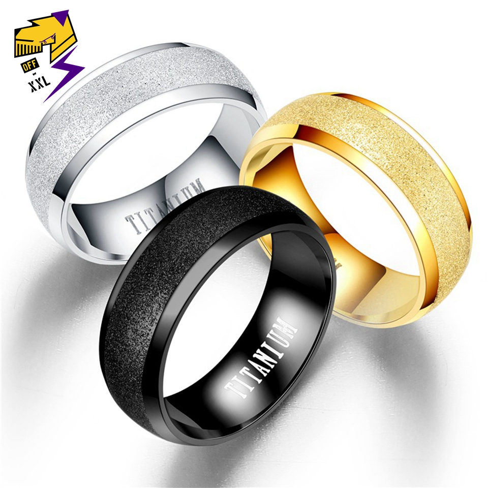Letter-Rings Jewerly-Accessories Titanium Classic Steel Men Fashion Charm Bague Cool