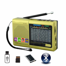 купить Bluetooth Speaker Rechargeable Portable MP3 Radio Receiver Am/Fm/SW Radio Support USB Flash Disk TF Card MP3 Player Music Files в интернет-магазине