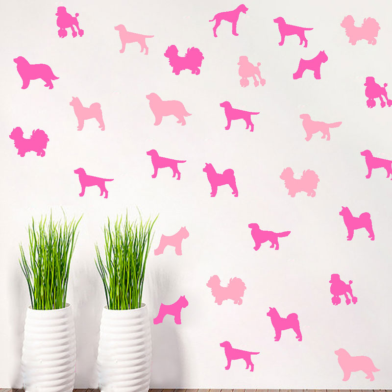 Vinyl Cute Dog Dog DIY Stickers Home Decor Bedroom Decoration Wall Stickers Home Decor Living Room Mural
