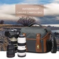 Waterproof Canvas Bag Retro SLR Camera Bag Canvas Male Shoulder Camera Bag Cross Border Men S