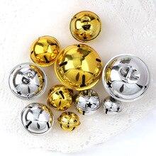 Золотой/Серебряный Железный плакированная в вакууме, кольца в виде пятиконечной звезды рождественские листьев подвеска с бубенчиками ручн...