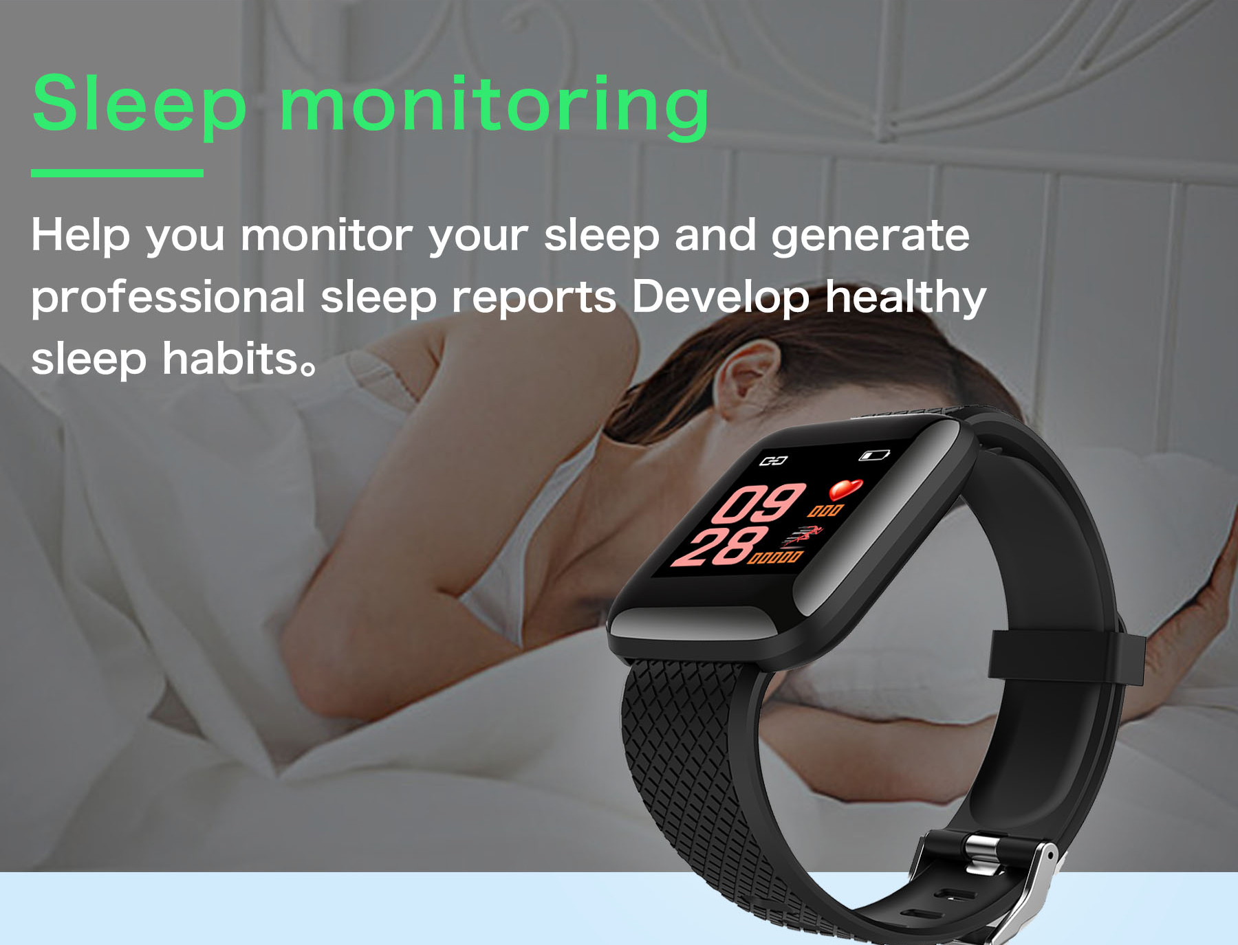 Doolnng Smart band wristband Sport fitness Tracker bracelet Heart Rate Monitor blood Pressure measurement Smartband Watch