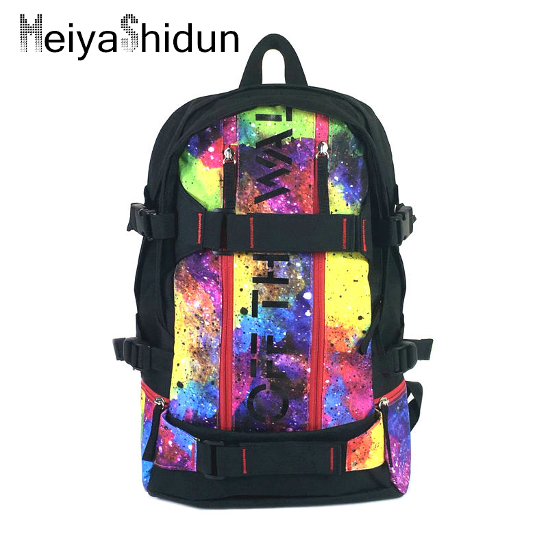 Men Skateboard Backpack Women canvas Backpacks Brand Camouflage travel bag Laptop Rucksack School Bags mochila masculina
