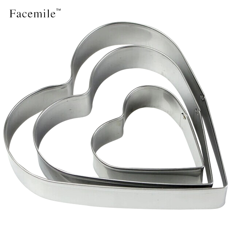 Facemile Sugar-Cutter Mould Baking-Tools Pastry Fondant Heart-Shaped Stainless-Steel