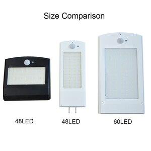 Image 2 - 48/60 led sem fio solar luzes led decoração ao ar livre à prova dwaterproof água pir sensor de movimento solar luz de parede para jardim rua lâmpadas solares