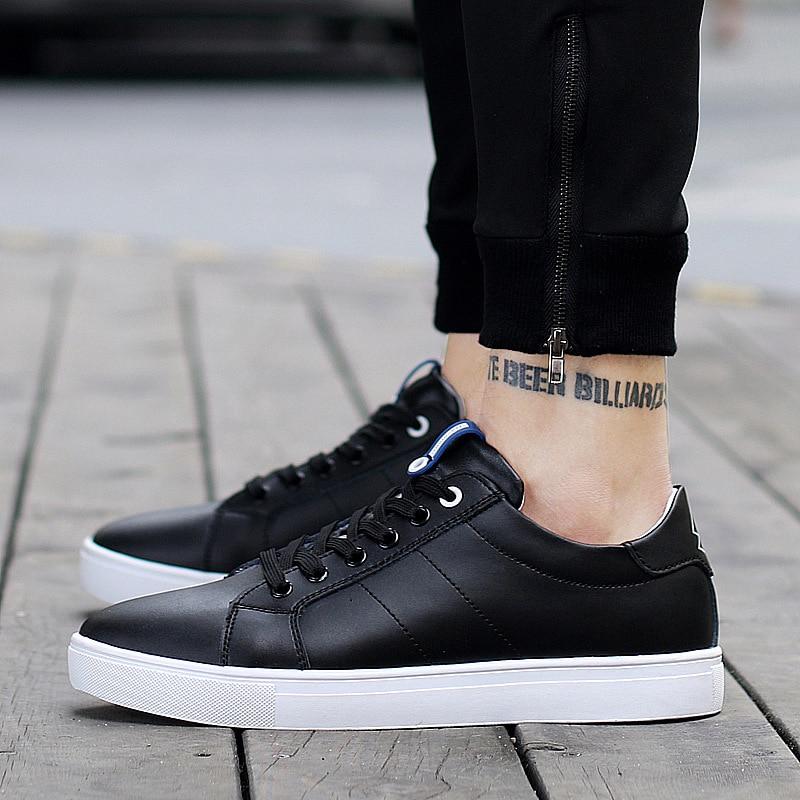 blanc Mocassins Conseil Respirant Chaussures Mens De Printemps Blanc Automne Nouveau Cowskin Cuir Hommes Loisirs Véritable Étudiant Noir En dWQBorCxeE