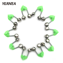 Yernea 100 Pcs Lot Tip Clip Bells Ring Fishing Rod Bite Alarms Fishing Bells Rod Alarm