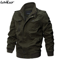 LetsKeep 5XL 6XL Military Pilot Bomber Jacket Men Autumn Army Flight jackets Mens Stand Collar coat Cotton plus size, A340