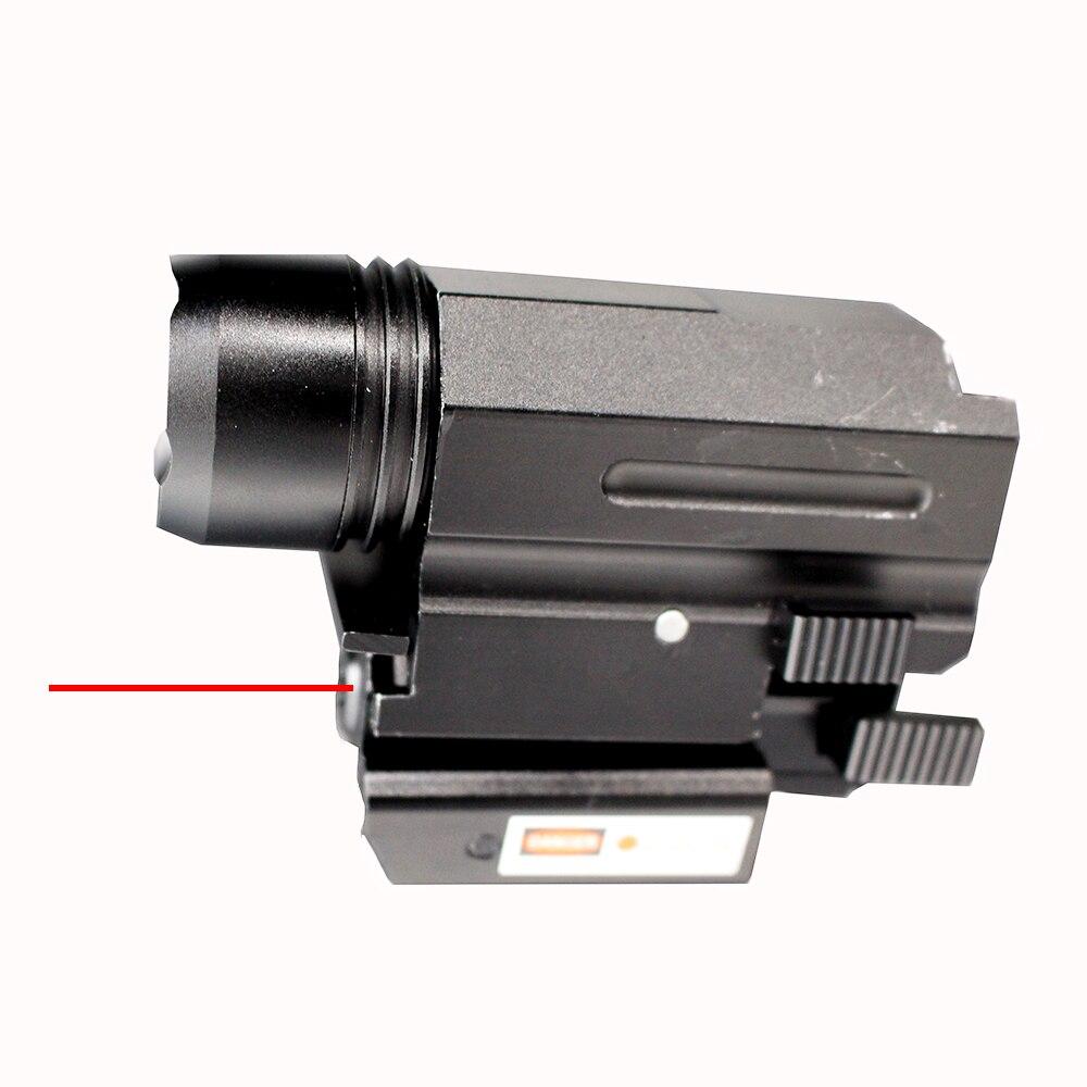 Red Dot Laser Vue + Tactique LED lampe de Poche Combo Chasse Accessoires Avec 20mm Picatinny Rail Mount Pour Pistolet Guns glock 17