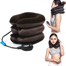 Надувной шейный бандаж поддержка шейный воротник воздушный Тяговый массажер терапевтическое устройство Здоровье и гигиена WS99