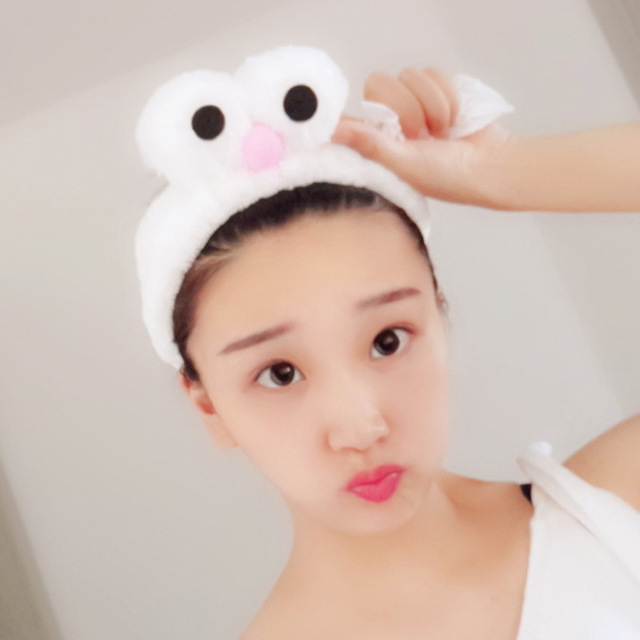 Independent Cute Turban Korean Big Eyes Gargle Bath Headband Face Washing Hairbands Spa Make Up Elastic Soft Headbands