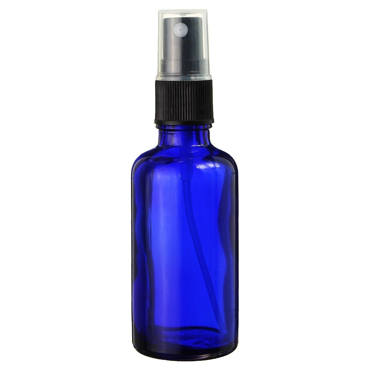 1pcs 50ml Blue Empty Glass Spray Bottle Glass Sprayer Bottles